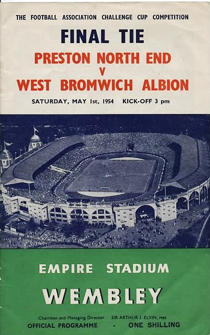 1954 FA Cup Final - Preston v West Brom